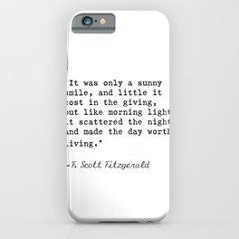 F. Scott Fitzgerald quote 6 iPhone Case