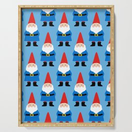 Gnome Repeat in Blue Serving Tray