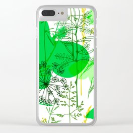 Green butterflies. Clear iPhone Case