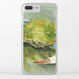 Blue Crab Clear iPhone Case