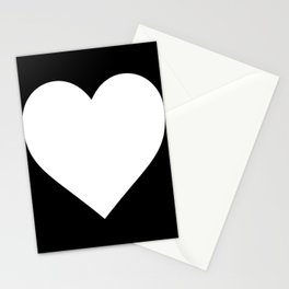 White Love Heart Stationery Cards