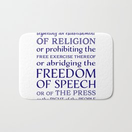 Defend Your Freedom of Speech Bath Mat