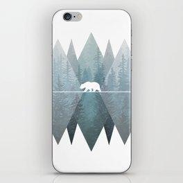 Misty Forest Mountain Bear iPhone Skin