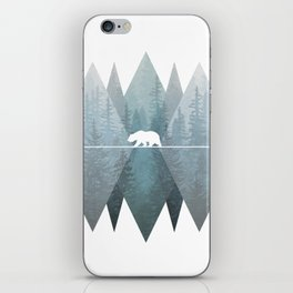 Misty Forest Mountain Bear iPhone Skin