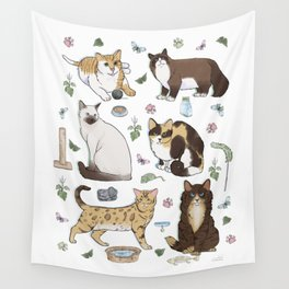 Cute Pet Cats 1 Wall Tapestry