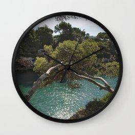Tranquil Bay at Mallorca Island Wall Clock