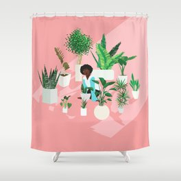 Secret Garden (Circle of Friends Version) Shower Curtain