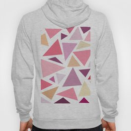 Modern pink pastel colors triangles pattern Hoody