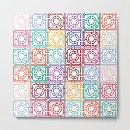 Maze Colorful Seamless Pattern Metal Print