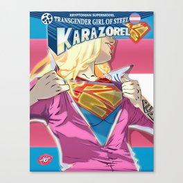 XSuperModel - Transgirl Of Steel - AltVersion Canvas Print