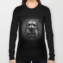 Raccoon Mugshot Long Sleeve T-shirt