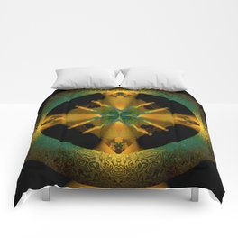 Spinning Wheel Hubcap in Gold Comforters