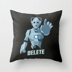 Nightmare in Silver (Cyberman) Throw Pillow