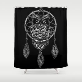 Dream Catcher Owl Shower Curtain