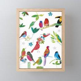 Birds meeting Framed Mini Art Print