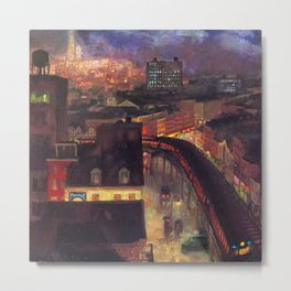 Classical Masterpiece 'The City from Greenwich Village' New York City by John French Sloan Metal Print