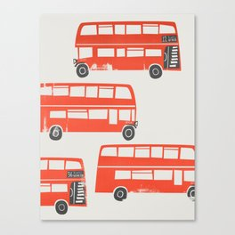 London Double Decker Red Bus Canvas Print