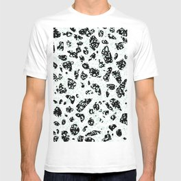 Triple Terrazzo - Mint Green Black & White Modern Speckle Pattern T-shirt