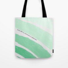 Every Plan is a Tiny Prayer to Father Time - Death Cab for Cutie Watercolor Rainbow Tote Bag