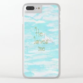 He Loves Me Clear iPhone Case