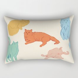 Cattitude - Cat illustration print Rectangular Pillow