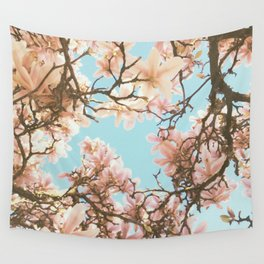 Pink Magnolia Wall Tapestry