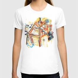 yellowredblueandblack T-shirt