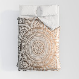 Gold Bronze Mandala Pattern Illustration Comforters