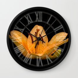 Yellow lily Wall Clock