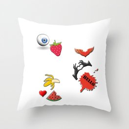 A variety of abstract objects Throw Pillow