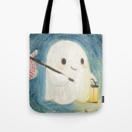 Little ghost in the night Tote Bag
