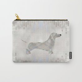 Dachshund dog  - Doxie pearl silhouette Carry-All Pouch