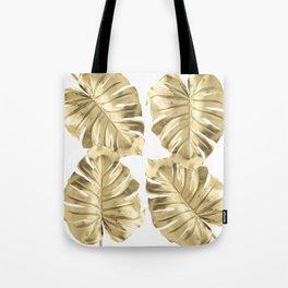Monstera Gold Tote Bag