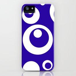 Circles Dots Bubbles :: Blueberry iPhone Case