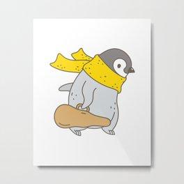 Penguin Violinist Metal Print