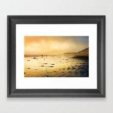 Morro Bay Sunset Framed Art Print