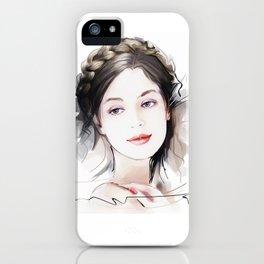 Girls portrait iPhone Case