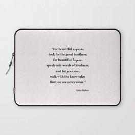 Beautiful quote by Audrey Hepburn Laptop Sleeve