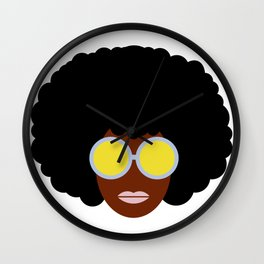Afro girl Wall Clock
