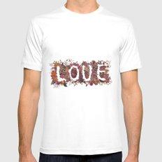 LOVE Mens Fitted Tee MEDIUM White