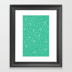 Dahlia Pattern, teal Framed Art Print