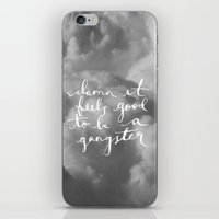 gangster iPhone & iPod Skins featuring Gangster by shelby | gordon