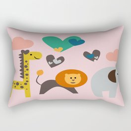 Jungle Fun Rectangular Pillow