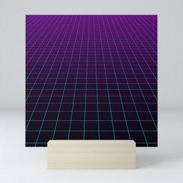 Minimalist Retro Vibes Gridlines Mini Art Print