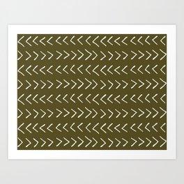 Arrows on Bronze-Olive Art Print