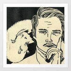 Animal Spirits-Otter Art Print