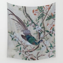 Antique Chinoiserie with Bird Wall Tapestry