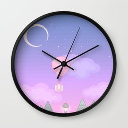 Animal Crossing Evening Wall Clock
