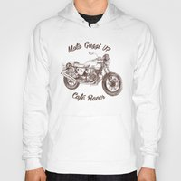 cafe racer Hoodies featuring vintage moto guzzi - cafe racer by dareba