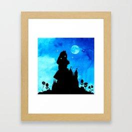 Magical Watercolor Night - Alice In Wonderland Framed Art Print